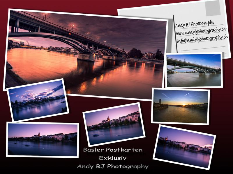 Basler Ansichtskarten/Postkarten 7er Set