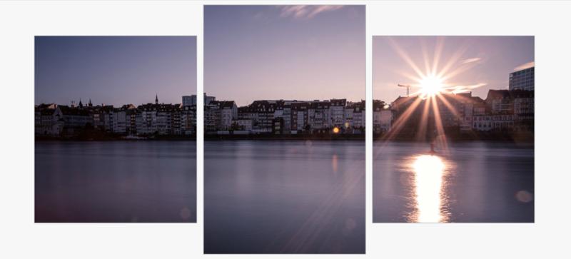 Sonnenuntergang 3 Teilig